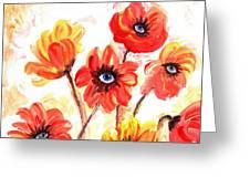 Observant Flowers 101 Greeting Card
