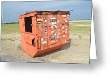 Obx Beach Dumpster Greeting Card
