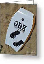 Obx Outer Banks Surf Board Greeting Card