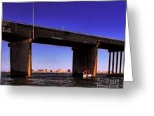 O.c. Bridge N Skyline Greeting Card
