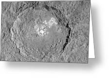 Occator Crater Greeting Card