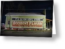 Occident Flour Sign Greeting Card