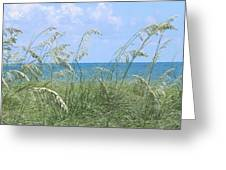 Ocean And Oats Greeting Card