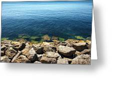 Ocean And Rocks Greeting Card
