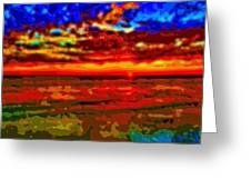 Landscape Ocean Sunset Greeting Card