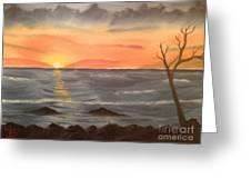 Ocean At Sunset Greeting Card