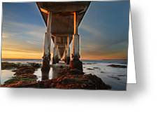 Ocean Beach California Pier Greeting Card by Larry Marshall