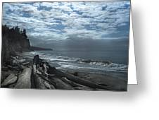Ocean Beach Pacific Northwest Greeting Card