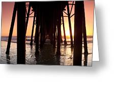 Oceanside Pier Tunnel Greeting Card