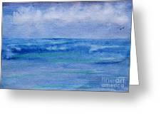 Gentle Ocean Waves -  Original Watercolor Greeting Card
