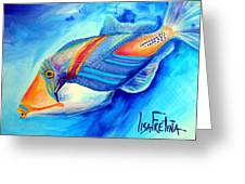 Ocean Blues Solo Greeting Card