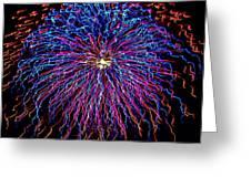 Ocean City Fireworks Greeting Card by Lisa Merman Bender