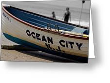 Ocean City Nj Iconic Life Boat Greeting Card