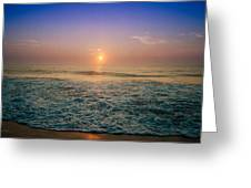 Ocean City Sunrise Greeting Card