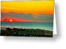 Ocean City Sunrise Over Music Pier Greeting Card