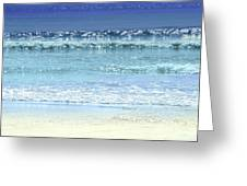 Ocean Colors Abstract Greeting Card