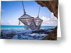 Ocean Front Hammock Greeting Card
