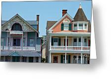 Ocean Grove Gingerbread Homes Greeting Card by Anna Lisa Yoder