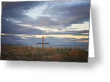 Ocean Grove Nj Beach Cross Greeting Card