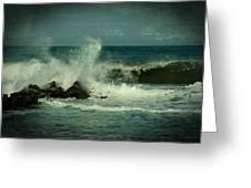 Ocean Impact - Jersey Shore Greeting Card