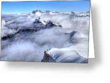 Ocean Of Clouds Greeting Card