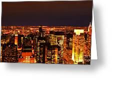 Ocean Of Light New York City Usa Greeting Card