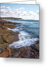 Ocean On The Rocks Greeting Card by Jon Glaser