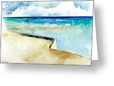 Ocean Pier In Key West Florida Greeting Card