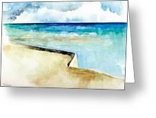 Ocean Pier In Key West Florida Greeting Card