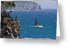 Ocean Racing I Greeting Card