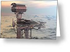 Ocean Refueling Platform Greeting Card