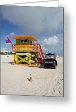 Ocean Rescue Miami Greeting Card