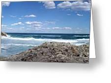 Great Ocean Road Surf, Australia - Panorama Greeting Card