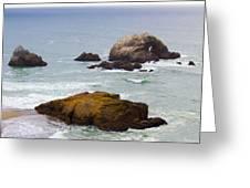 Ocean Rocks Near San Francisco Ca Cliff House Greeting Card