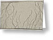 Ocean Sand Art Below Greeting Card