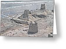 Ocean Sandcastles Greeting Card by Betsy Knapp