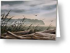 Ocean Shore Greeting Card by James Williamson