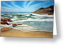 Ocean Side Greeting Card by Rick Huotari