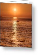 Ocean Sunrise At Montauk Point Greeting Card