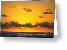 Ocean Sunrise Clouds Greeting Card