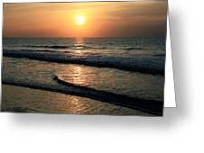 Ocean Sunrise Over Myrtle Beach Greeting Card