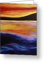 Ocean Sunset Greeting Card