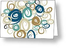 Ocean Swirls Greeting Card by Kenneth Feliciano