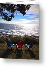 Ocean View At Pemaquid Point Maine Greeting Card