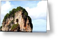 Ocean Wall- Phi Phi Island - Krabi Thailand- Viator's Agonism Greeting Card