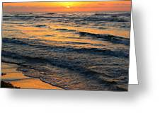 Beach Wave Sunrise Greeting Card by Candice Trimble