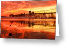 Oceanside Fire Greeting Card