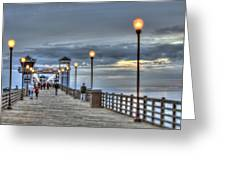 Oceanside Pier At Sunset Greeting Card