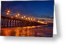 Oceanside Pier Evening Greeting Card