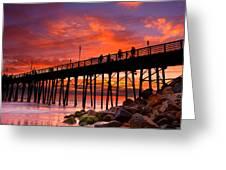 Oceanside Sunset 12 Greeting Card